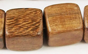 Dice, 15x15x15mm, Robles beads, EXOTIC WOODEN BEADS