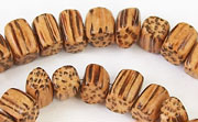 Rectangular Block, Side Drill, 6x8x6mm, Palm beads, EXOTIC WOODEN BEADS