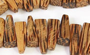 Tusk, 5x16x7mm, Palmwood beads, EXOTIC WOODEN BEADS