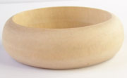 Bangle, Rounded, 25x10mm, Wood beads, WOODEN BANGLES