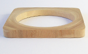 Bangle, Square, 8x(8 to 22)mm, Wood beads, WOODEN BANGLES
