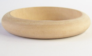 Bangle, Rounded, 15x10mm, Wood beads, WOODEN BANGLES