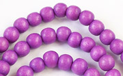 Round, 6mm, Wood, R8 beads, DYED WOODEN BEADS