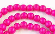 Round, 6mm, Wood, R1 beads, DYED WOODEN BEADS