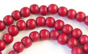 Round, 6mm, Wood, R32 beads, DYED WOODEN BEADS