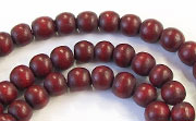Round, 6mm, Wood, E7 beads, DYED WOODEN BEADS