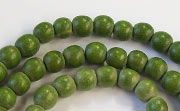 Round, 6mm, Wood, E9 beads, DYED WOODEN BEADS