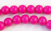 Round, 8mm, Wood, R1 beads, DYED WOODEN BEADS