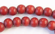 Round, 8mm, Wood, E6 beads, DYED WOODEN BEADS