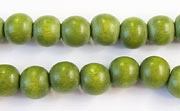 Round, 8mm, Wood, E9 beads, DYED WOODEN BEADS