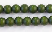 Round, 8mm, Wood, E10 beads, DYED WOODEN BEADS