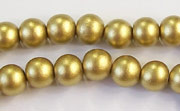 Round, 8mm, Wood, Gold beads, DYED WOODEN BEADS