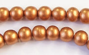 Round, 8mm, Wood, Copper beads, DYED WOODEN BEADS