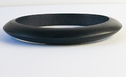 Bangle, Pointed, 10x10mm, Wood, Black beads, WOODEN BANGLES
