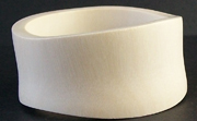 Bangle, Wave, (31 to 38)x7mm, Wood, White beads, WOODEN BANGLES