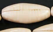 4 Sided Football, 13x15x37mm, Bochiki Shell beads, TROPICAL SHELL BEADS