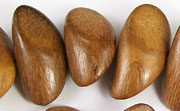 Pointed Nugget, 9x25x12mm, Robles beads, EXOTIC WOODEN BEADS