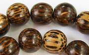 Round, 12mm, Patikan beads, EXOTIC WOODEN BEADS