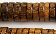 Pucalet, 15x4mm, Robles beads, EXOTIC WOODEN BEADS