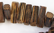 Rectangular Block, Side Drill, 5x18x5mm, Patikan beads, EXOTIC WOODEN BEADS