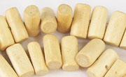 Tube, Side Drill, 13x6mm, Cheesewood beads, EXOTIC WOODEN BEADS