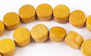 Flat Round, 4x8mm, Jackfruit beads, EXOTIC WOODEN BEADS
