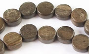 Flat Round, 4x8mm, Greywood beads, EXOTIC WOODEN BEADS