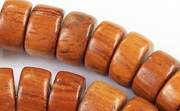 Pucalet, 12x6mm, Bayong beads, EXOTIC WOODEN BEADS