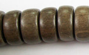 Pucalet, 20x8mm, Greywood beads, EXOTIC WOODEN BEADS