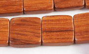 Flat Square, 5x16x16mm, Bayong beads, EXOTIC WOODEN BEADS
