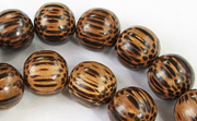 Round, 10mm, Patikan beads, EXOTIC WOODEN BEADS