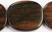 Flat Square, 5x35x38mm, Ebony beads, EXOTIC WOODEN BEADS