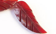 Leaf Design, 13x33mm, Red Horn beads, HORN BEADS