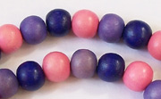 Round, 8mm, Wood, M18 beads, DYED WOODEN BEADS