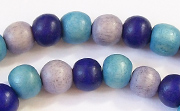 Round, 8mm, Wood, M4 beads, DYED WOODEN BEADS