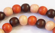 Round, 8mm, Wood, M23 beads, DYED WOODEN BEADS