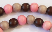 Round, 8mm, Wood, M19 beads, DYED WOODEN BEADS