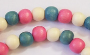 Round, 8mm, Wood, M46 beads, DYED WOODEN BEADS