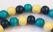 Round, 8mm, Wood, M16 beads, DYED WOODEN BEADS