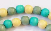 Round, 8mm, Wood, M11 beads, DYED WOODEN BEADS