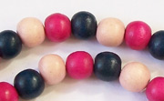 Round, 8mm, Wood, M12 beads, DYED WOODEN BEADS