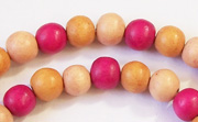 Round, 8mm, Wood, M28 beads, DYED WOODEN BEADS