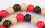 Round, 8mm, Wood, M38 beads, DYED WOODEN BEADS