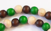 Round, 8mm, Wood, M39 beads, DYED WOODEN BEADS