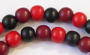Round, 8mm, Wood, M22 beads, DYED WOODEN BEADS