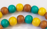 Round, 8mm, Wood, M2 beads, DYED WOODEN BEADS