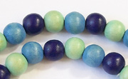Round, 8mm, Wood, M20 beads, DYED WOODEN BEADS