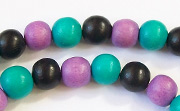 Round, 8mm, Wood, M15 beads, DYED WOODEN BEADS