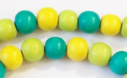 Round, 8mm, Wood, M14 beads, DYED WOODEN BEADS