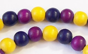 Round, 8mm, Wood, M17 beads, DYED WOODEN BEADS